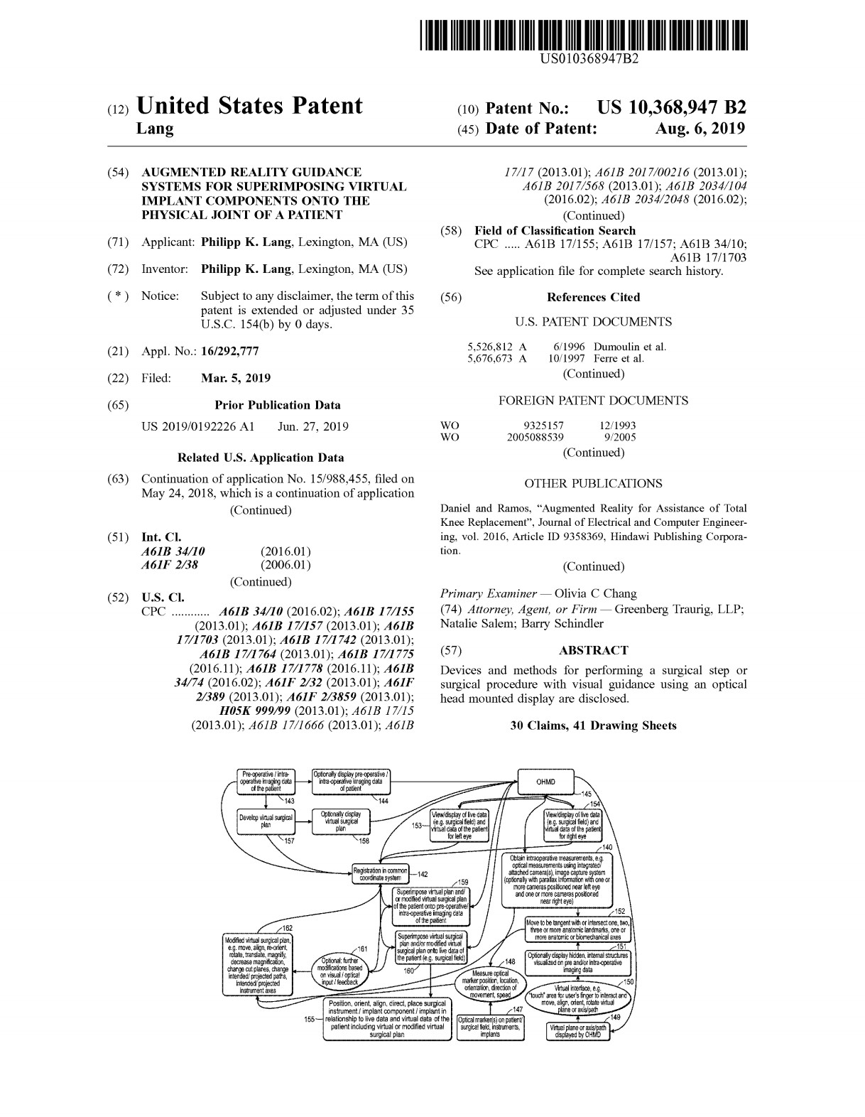 Patent 10368947 - onPoint Intellectual Property